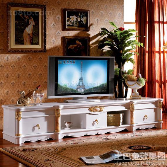 欧式地柜电视背景墙图片欣赏