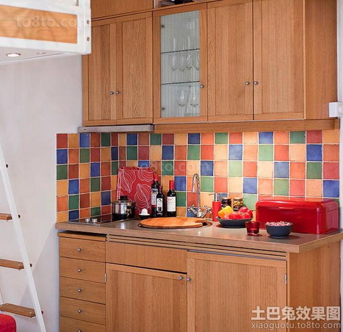 21平小户型开发式厨房效果图