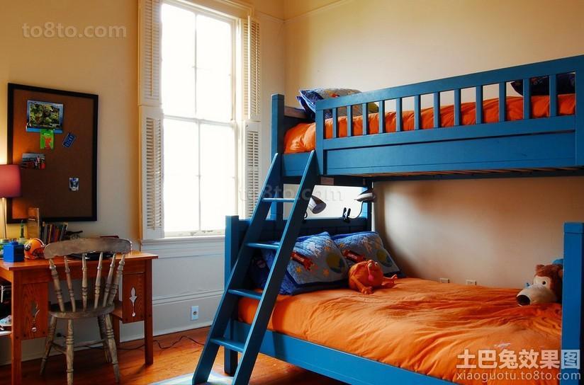 小孩房上下铺双人床效果图欣赏