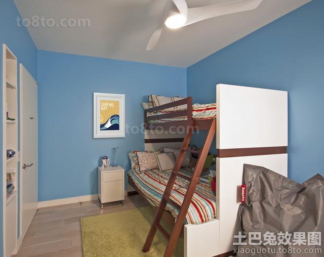 小空间儿童房上下铺双人床效果图