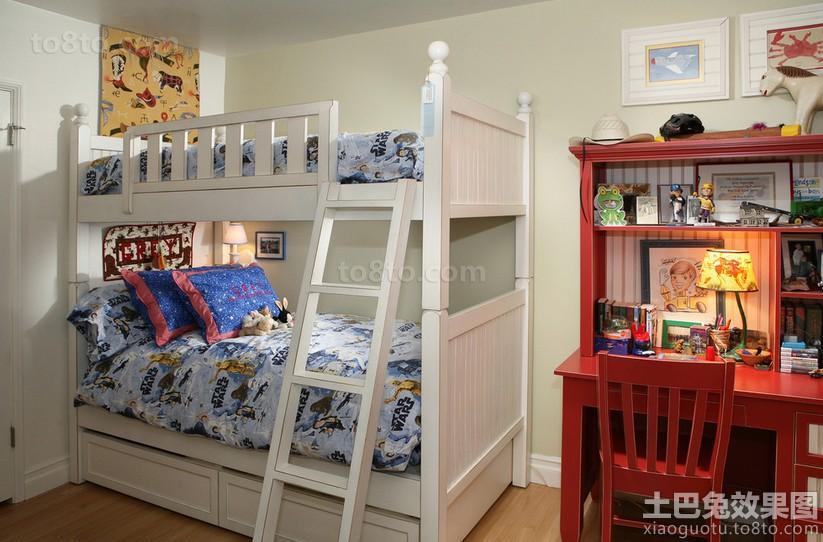 儿童房上下铺双人床装修效果图