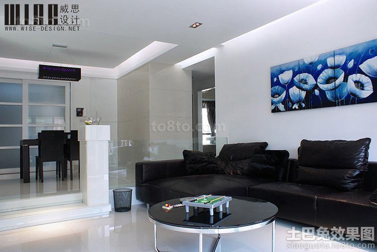 现代风格餐厅连客厅装修效果图