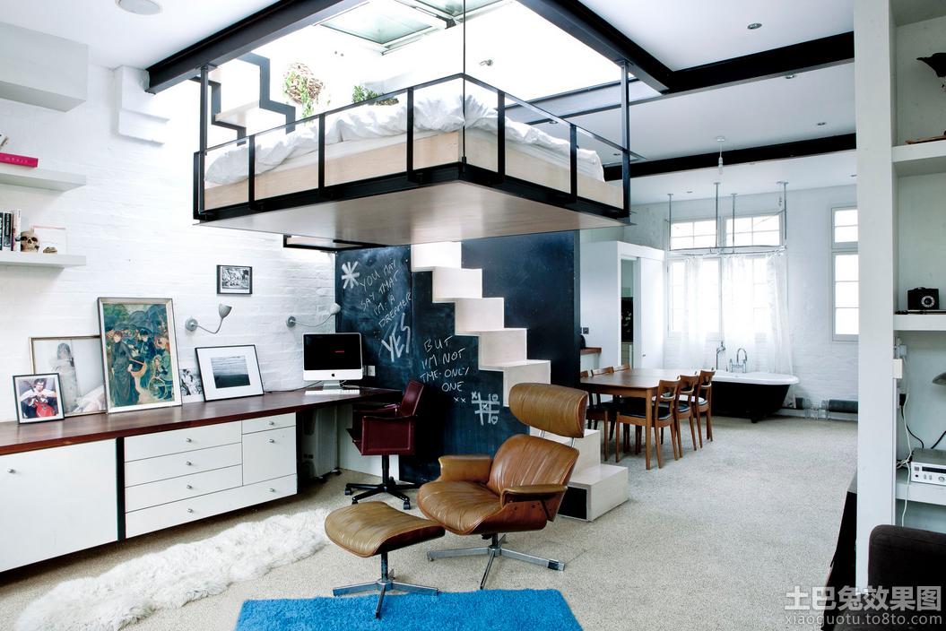 70平米宜家混搭loft公寓户型装修效果图