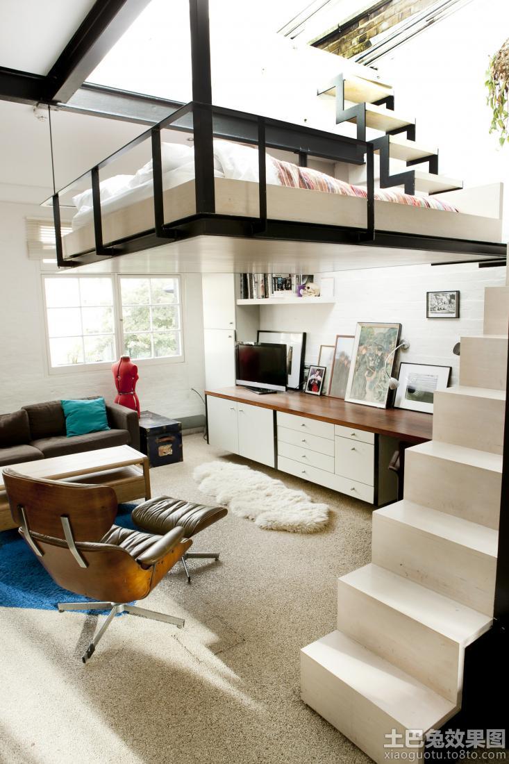 loft卧室床装修设计