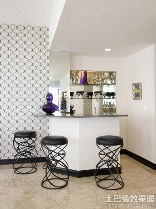 家庭吧台装修后现代吧椅图片