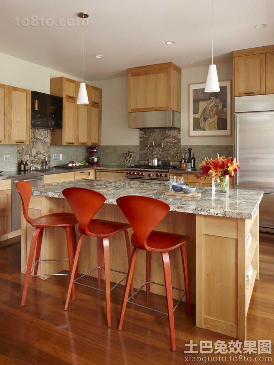 敞开式厨房现代吧椅图片