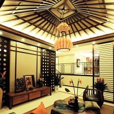 热门面积139平别墅客厅东南亚实景图