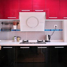 热门面积87平小户型厨房现代装修实景图片欣赏