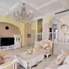 别墅装修欧普客厅水晶灯图片