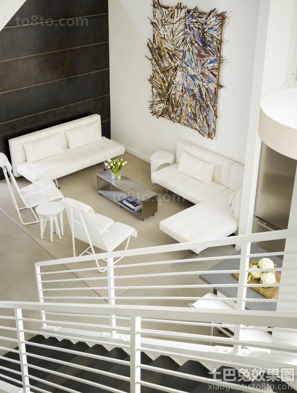 loft户型客厅装修图欣赏