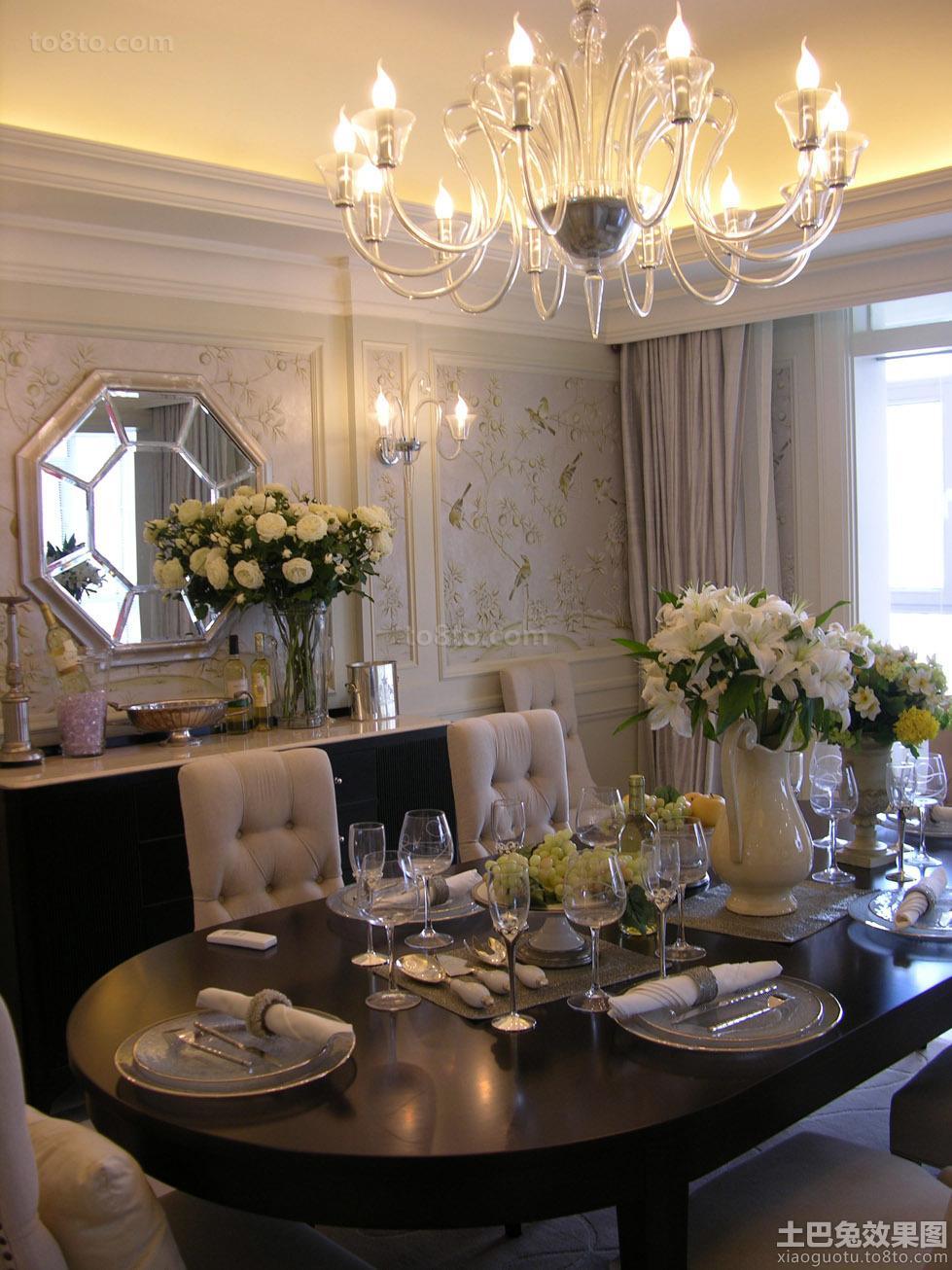 欧式三居餐厅装饰效果图片