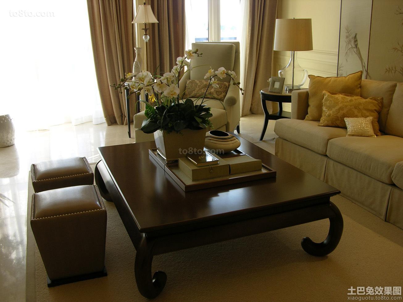 欧式客厅实木茶几图片大全