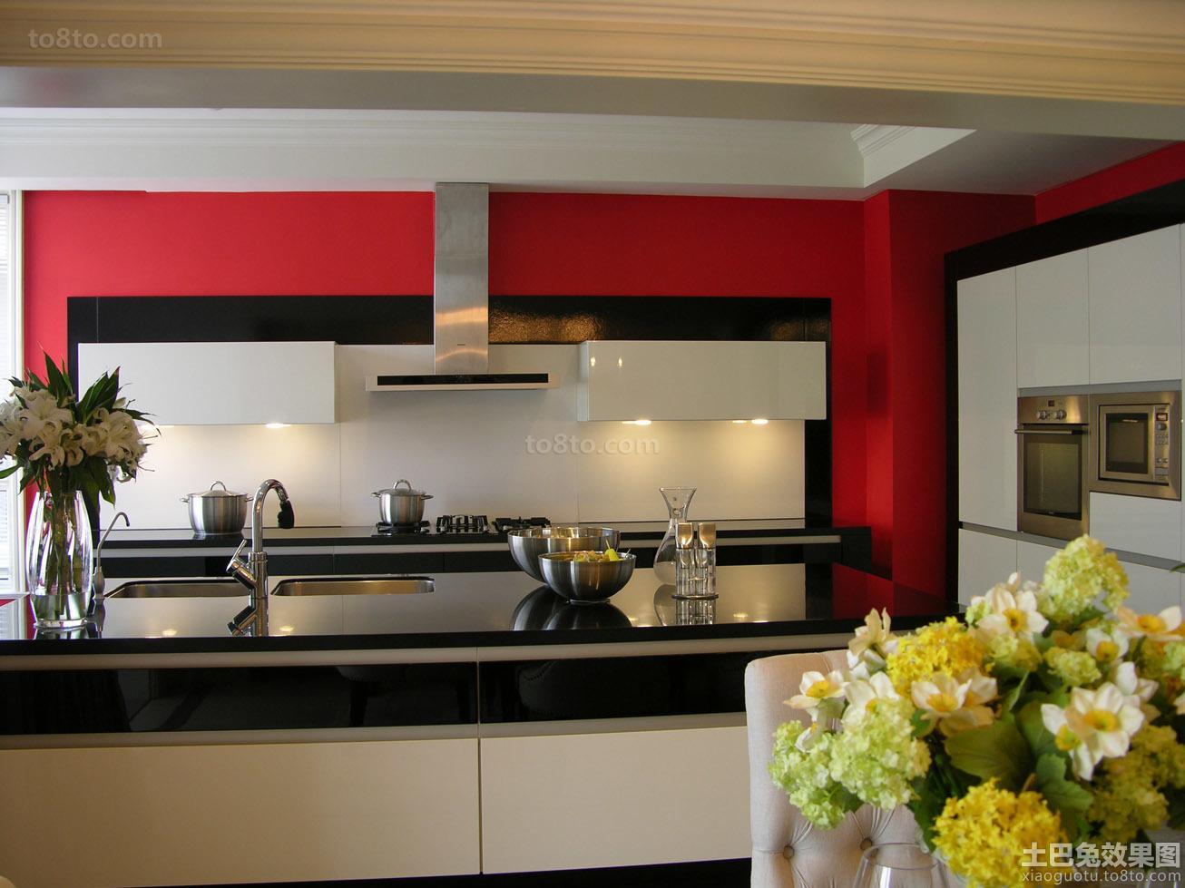 半开放式厨房吧台台面装修效果图片
