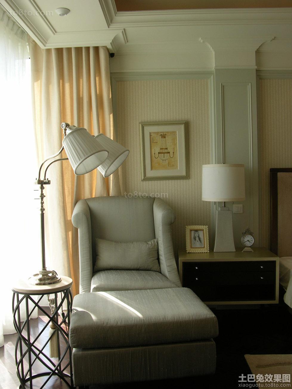 卧室单人休闲布沙发图片