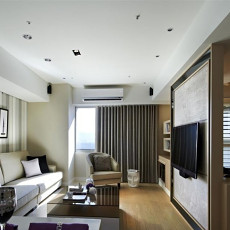 家装小户型电视背景墙隔断效果图