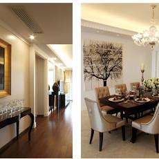 热门大小98平欧式三居餐厅实景图片