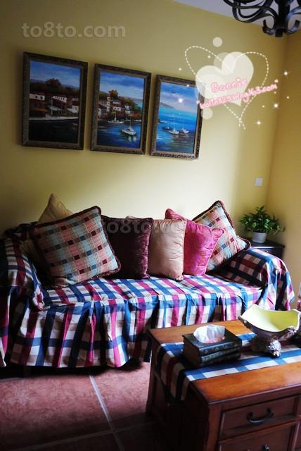 田园风格布艺沙发图片
