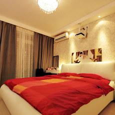 72平米现代小户型卧室实景图片
