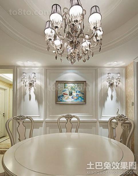 餐厅石膏线背景墙挂画装饰效果图