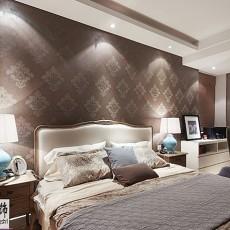现代卧室壁纸装修效果图2013