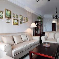 热门面积89平小户型客厅美式效果图片