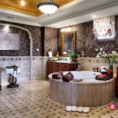 美式别墅卫生间装修效果图大全