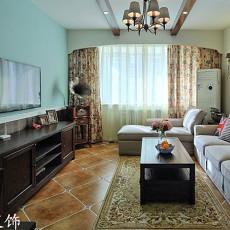 精选小户型客厅美式装修效果图