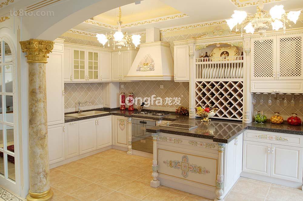 巴洛克欧式开放式厨房装修效果图