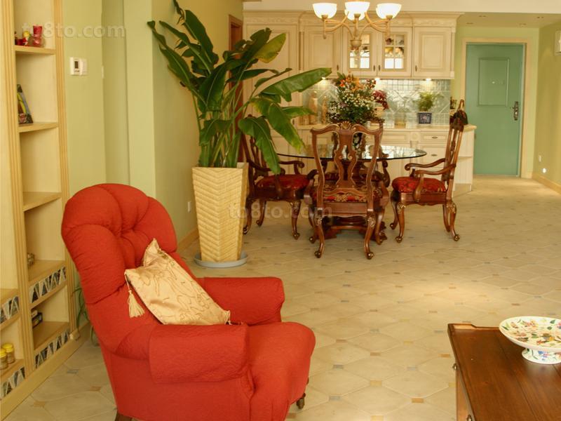 田园风格客厅单人沙发图片大全