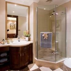 精选面积126平别墅卫生间美式装修设计效果图片欣赏