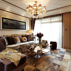 精选面积85平欧式二居客厅实景图