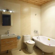 两室两厅实木装修卫生间效果图欣赏