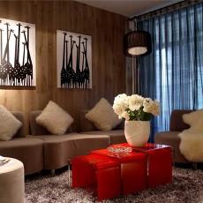 精选87平米二居客厅现代装修图
