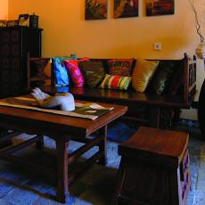 精选面积90平小户型客厅东南亚装修实景图片