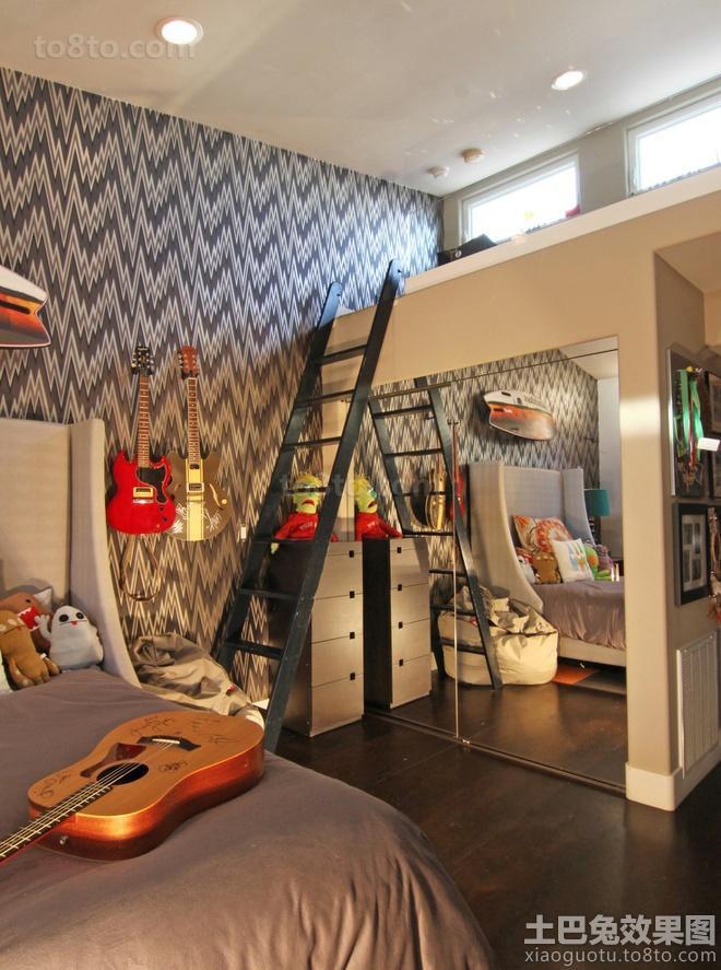 loft户型儿童房布置图片