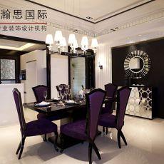 2018面积107平欧式三居餐厅装修效果图片