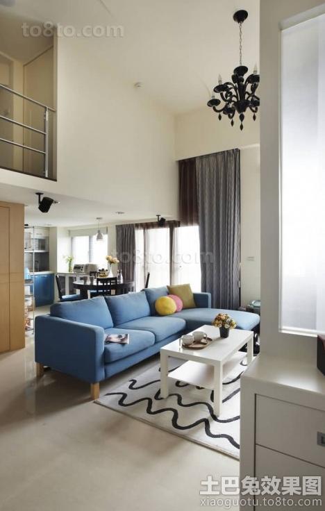 loft户型客厅装修效果图