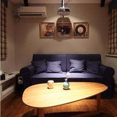热门71平米二居客厅现代装修效果图片大全