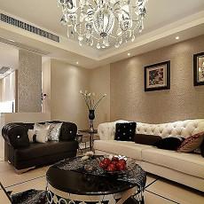 130平米欧式复式客厅装修实景图