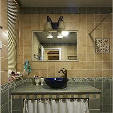 美式乡村卫生间瓷砖效果图