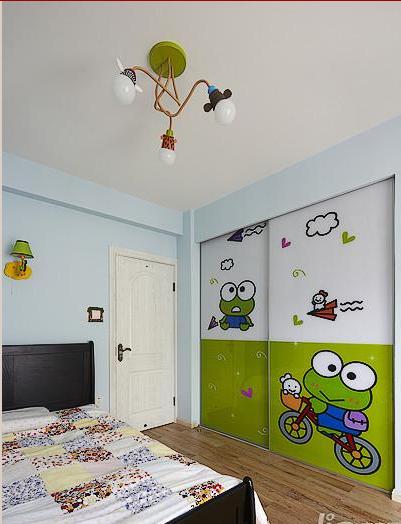 儿童房衣柜推拉门贴图