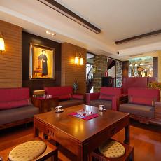 热门面积122平复式客厅中式欣赏图