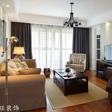 精选面积73平小户型客厅美式装修实景图片