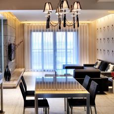 热门面积75平简约二居餐厅装修欣赏图