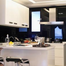 简约风格厨房吧台装修设计效果图