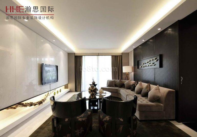 201874平米现代小户型客厅效果图片