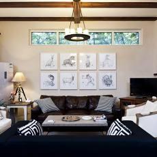 希腊地中海风格客厅装饰效果图