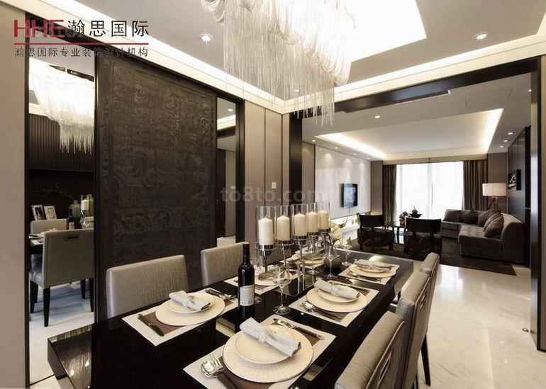 精美面积85平小户型餐厅现代实景图