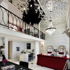 2018面积139平别墅客厅现代装修设计效果图片大全