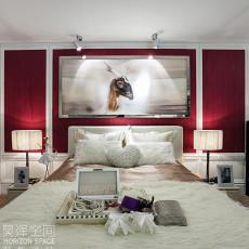 现代卧室样板间效果图片